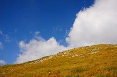 Hügel von ukrainischen Karpaten Lizenzfreies Stockfoto
