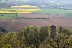 Hügel Weserbergland Weser Stockbild