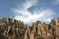 Hügelberg Provinz der China-Jiangxi sanqing lizenzfreie stockfotos