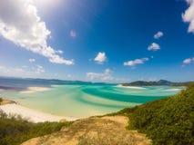 Hügeleinlaß whitsunday Inseln Lizenzfreie Stockfotos