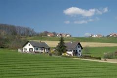 Hügelhaus Stockfoto