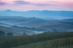 Hügelige Landschaft von Toskana Lizenzfreies Stockbild