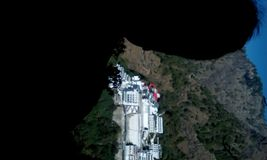 Hügelstation Jai Matas di temple Matram stockbilder