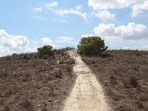 Hügelweg Stockfotos