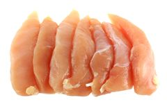 Hühnchen-Brust-Verkleidung getrennt auf Weiß Lizenzfreie Stockfotos