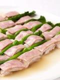 Hühnchenbrust mit yunnam Schinken Lizenzfreie Stockbilder