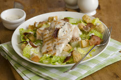 Hühner-Caesar-Salat Lizenzfreie Stockfotografie