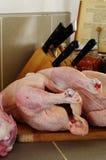 Hühner roh Lizenzfreie Stockfotografie