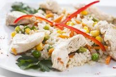 Hühner- und Gemüsepilaf Lizenzfreies Stockfoto