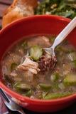 Hühner-und Spargel-Suppe stockfoto