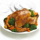Hühnerbraten lizenzfreie stockbilder