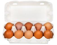Hühnereien im Papppaket Lizenzfreie Stockfotografie