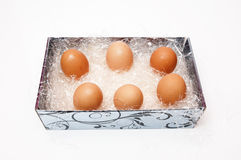 Hühnereier Lizenzfreie Stockfotos