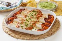 Hühnerenchiladas Lizenzfreies Stockfoto