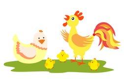 Hühnerfamilie Stockbild
