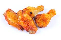 Hühnerflügel und drumlets Stockfoto