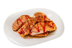 Hühnerfleisch gekocht Lizenzfreie Stockbilder