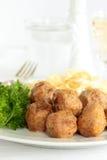 Hühnerfleischklöschen Stockfoto