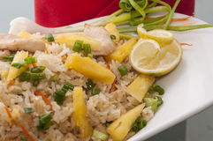 Hühnergebratener Reis Lizenzfreies Stockbild