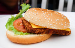 Hühnerhamburger Stockbilder