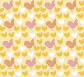 Hühnerhelles Muster Lizenzfreies Stockfoto