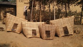 Hühnerkorb Bambus Stockfotografie