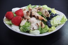 Hühnerobstsalat Lizenzfreies Stockbild