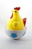 Hühnerspielzeug auf lokalisiertem Weiß stockbilder