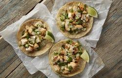 Hühnerstraßen-Tacos Stockbild