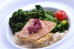 Hühnertorte mit Gemüse Stockfoto