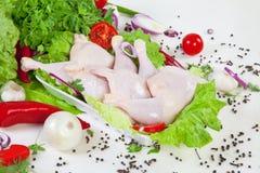 Hühnertrommelstöcke Lizenzfreie Stockfotos