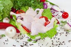 Hühnertrommelstöcke Lizenzfreies Stockfoto
