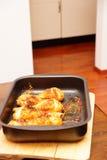 Hühnertrommelstöcke Stockfoto