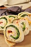 Hühnerverpackungssandwich Stockbild