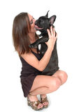 Hündchen-Küsse Stockfoto