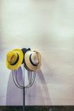 Hüte auf Aufhänger lizenzfreies stockbild