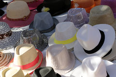 Hüte des verschiedenen Typen Lizenzfreies Stockbild