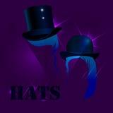 Hüte ein dunkler Hintergrund Stockbild
