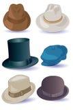 Hüte für Männer Stockfotografie