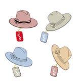 Hüte für Männer Lizenzfreie Stockfotografie