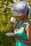 Hüte und hoher Tee lizenzfreie stockfotos