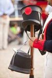 Hüte und Musketen lizenzfreie stockfotos