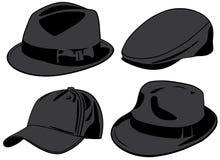 Hüte. Vektorabbildung Lizenzfreie Stockfotografie