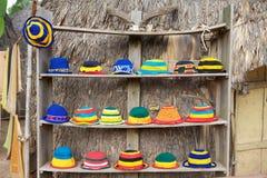 Hüte von differnet Farben Stockfoto