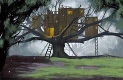 Hütte auf Baum Lizenzfreie Stockbilder