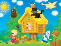 Hütte auf Hühnerbeinen Stockbilder