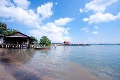 Hütte auf Meer Stockfotografie