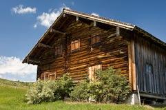 Hütte in den Alpen Stockbilder