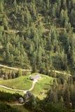 Hütte in den Alpen Stockfoto