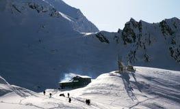 Hütte in den Bergen Stockbilder